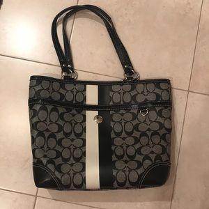 Coach Striped Bag